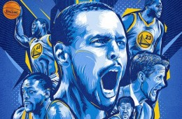 Golden State Warriors '2015 Champs' Illustration