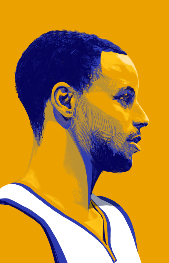 c40415c3b976 Stephen Curry vs LeBron James Illustration – Hooped Up