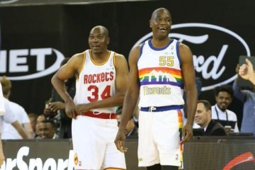 Hakeem Olajuwon and Dikembe Mutombo Surprise Fans In Africa