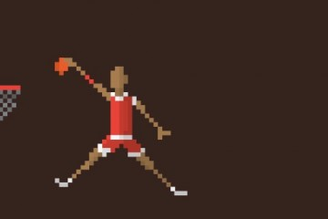 Historic NBA Players Pixel Art