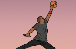 Kanye West x Michael Jordan 'SWISH' Illustration