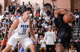 Klay Thompson vs James Harden In Drew League Action