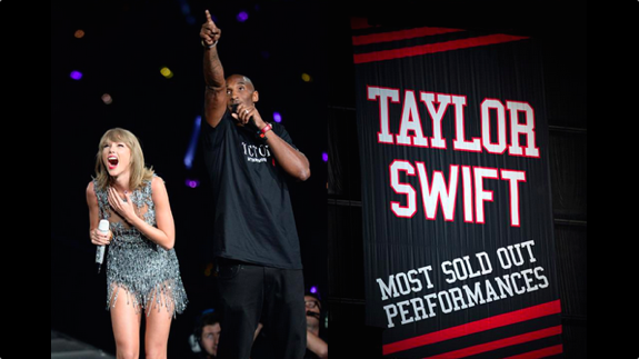 Kobe Bryant Presents Taylor Swift With a Championship Banner