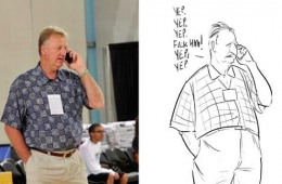 Larry Bird Summer Style Sketch