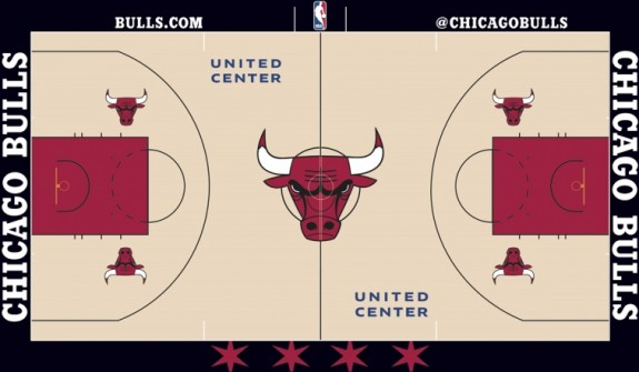 Chicago Bulls Showoff New Court Design