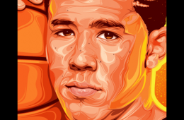 Devin Booker 'Rising Sun' Portrait