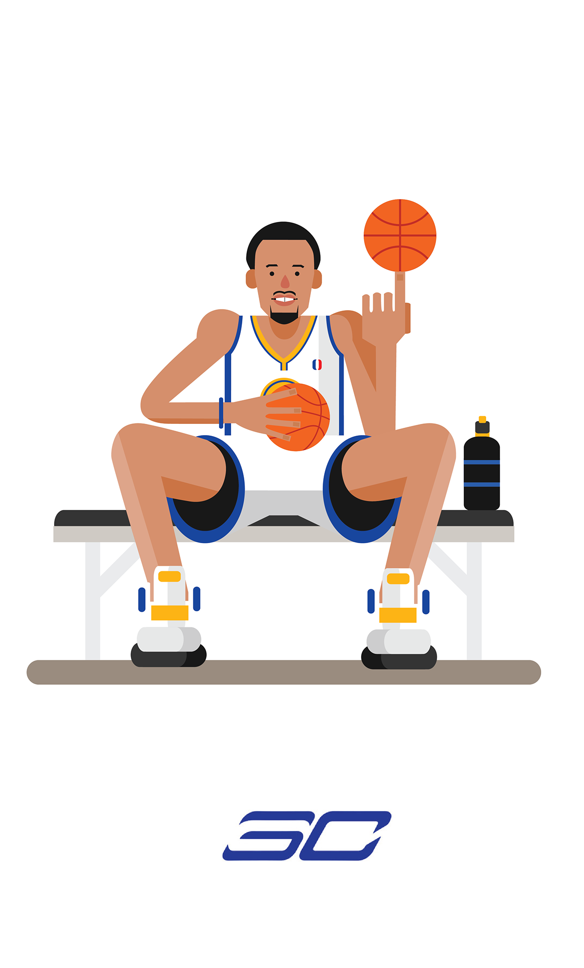 9a087b22ad5b Stephen Curry  Wardell of The North  Art – Hooped Up