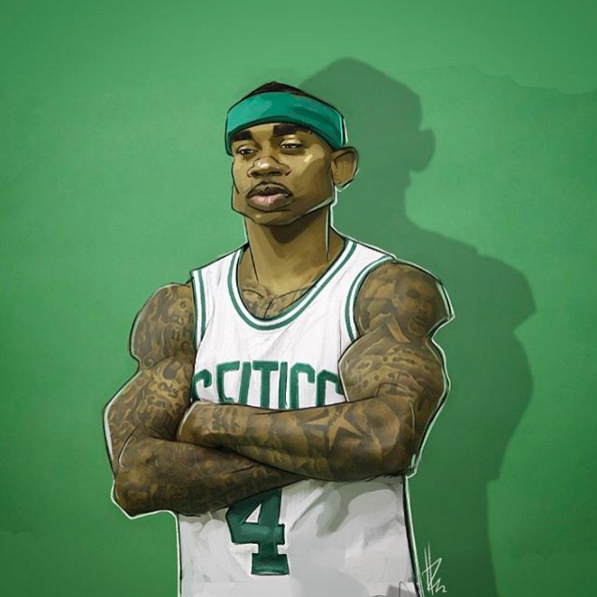 Isaiah Thomas Celtics General Illustration