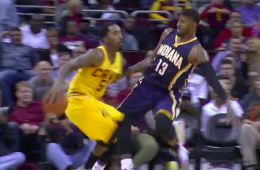 JR Smith Hits Paul George With a Vicious Crossover