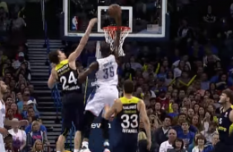 Kevin Durant Puts Jan Vesely On a Poster