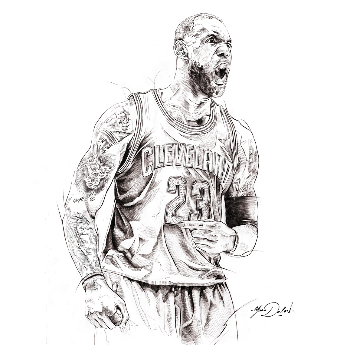 lebron james living color painting u2013 hooped up