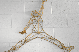 Limited Edition Handmade Jumpman Wireframe 3D Sculpture