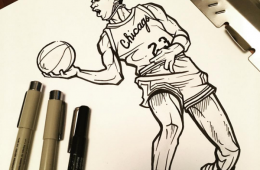 Michael Jordan Flight Illustration