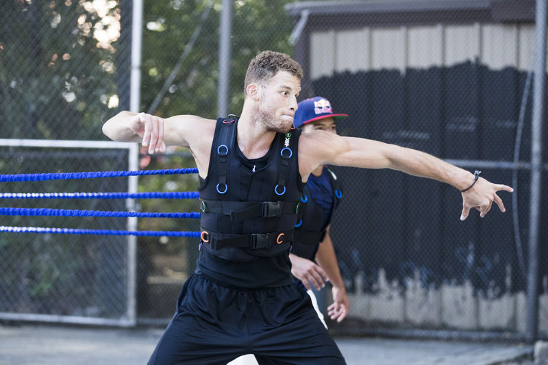 Blake Griffin Plays Handball In NYC