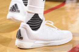 James Harden all-white adidas Crazy Light Boost