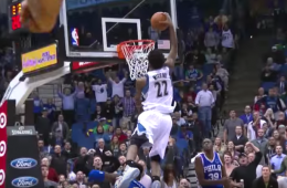 Andrew Wiggins, Wolves Win First Home Game