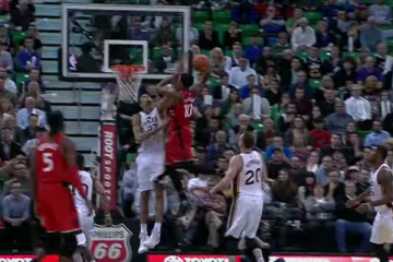 DeMar DeRozan Dunks All Over Rudy Gobert