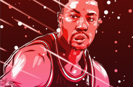 Derrick Rose 'See Red' Illustration