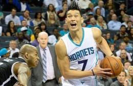 Jeremy Lin and Nicolas Batum Take Down Nets