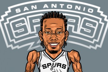 Kawhi Leonard 'Lockdown D' Illustration