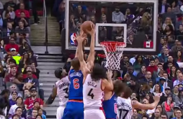 Kristaps Porzingis Dunks All Over the Raptors