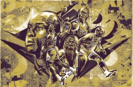 Michael Jordan Bronze Tribute Illustration