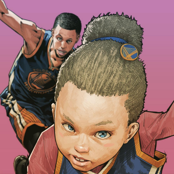 Riley x Stephen Curry Dynamic Duo Illustration