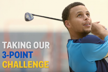 Stephen Curry Takes the Golf Digest 3-Point Challenge