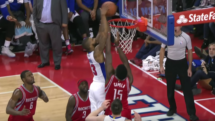 Marcus Morris with the Clean Up Dunk
