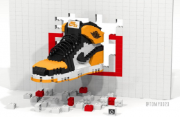 Air Jordan I 'Shattered Backboard' LEGO Replica