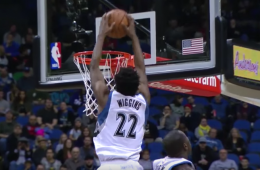 Andrew Wiggins Racks Up 32 and 10, Wolves Win