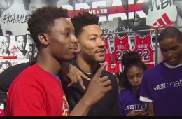 Derrick Rose Surprises Students with a Shopping Spree