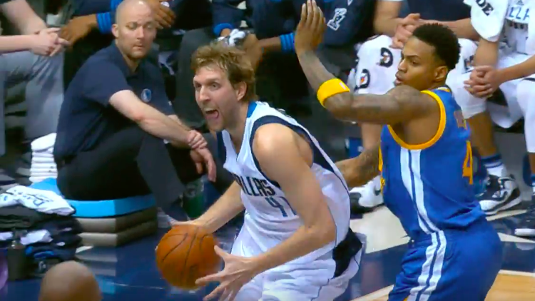 Dirk Nowitzki Dunks All Over the Warriors