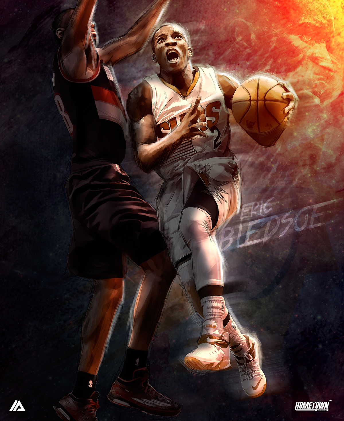 Eric Bledsoe Attack Illustration
