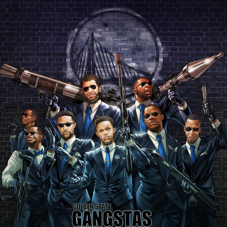 Golden State Gangstas Illustration