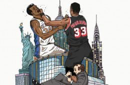 Heat vs Knicks Art Print