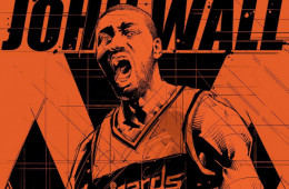 John Wall Red Rage Illustration