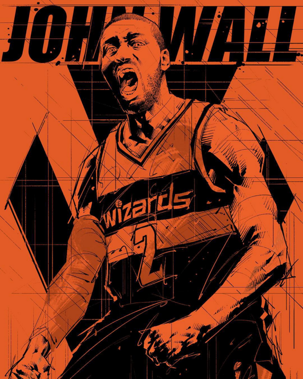john-wall-red-rage-illustration
