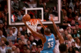 Kevin Durant Dunks All Over Chris Bosh