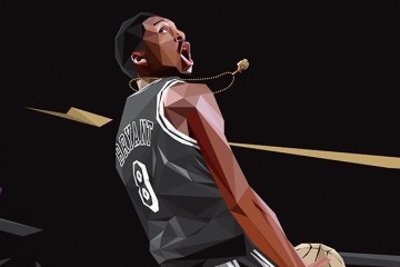Kobe Bryant 'Golden Black Mamba' Art