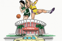 Lakers vs Celtics Art Print