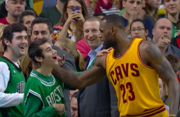 LeBron James Honors Special Olympian, Beats Boston