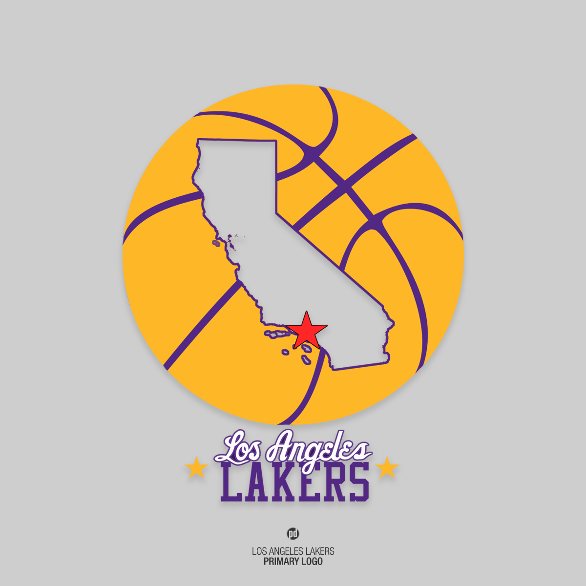 Los angeles lakers rebrand project primary logo hooped up los angeles lakers rebrand project voltagebd Image collections