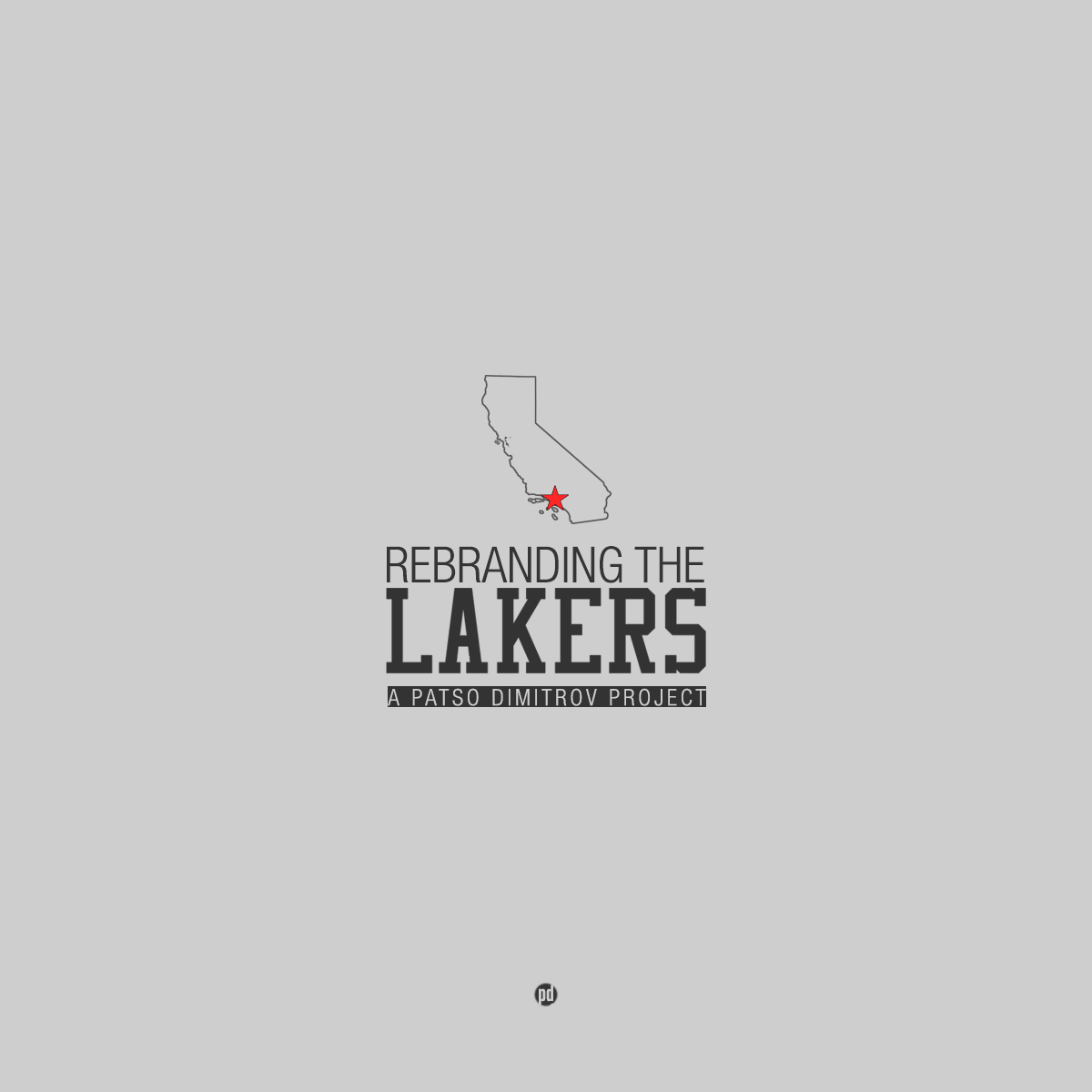 Los Angeles Lakers Rebrand Project  Hooped Up - Los angeles poster black and white