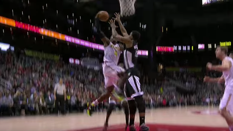 Paul Millsap Dunks All Over Hassan Whiteside