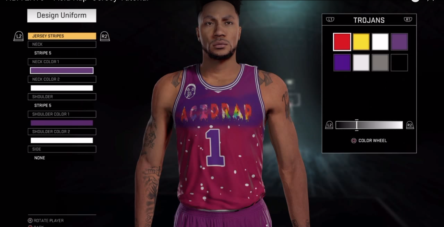 Rap Album Covers x NBA Jerseys x NBA 2K16