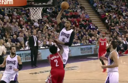 Rudy Gay Dunks All Over Patrick Beverley