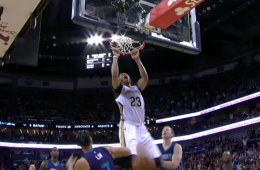 Anthony Davis Game Winning Alley-Oop Dunk