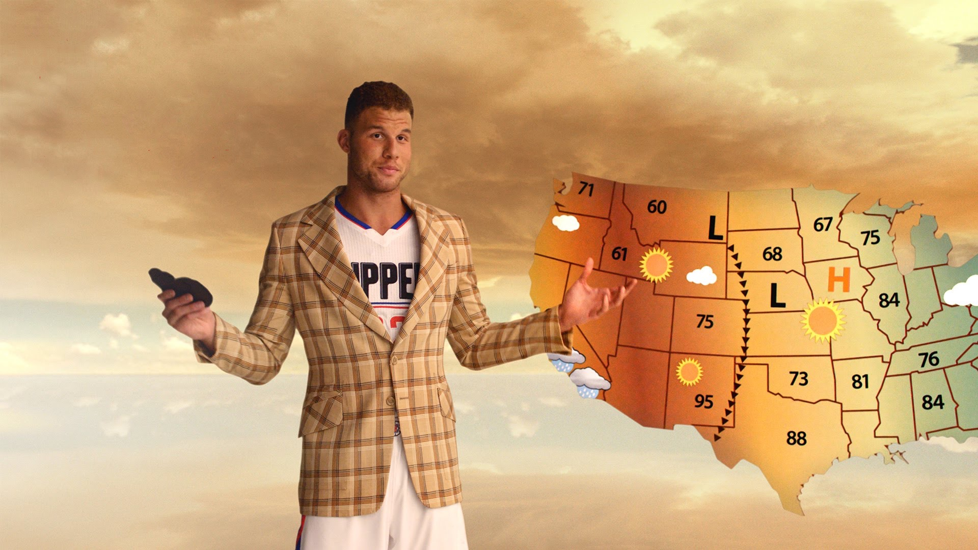 Blake Griffin 2016 Kia Optima Weatherman Commercial