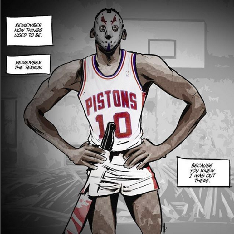 Dennis Rodman x Jason Voorhees Illustration